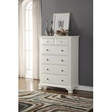 Laveno 012 White Wood 5-Drawer Chest