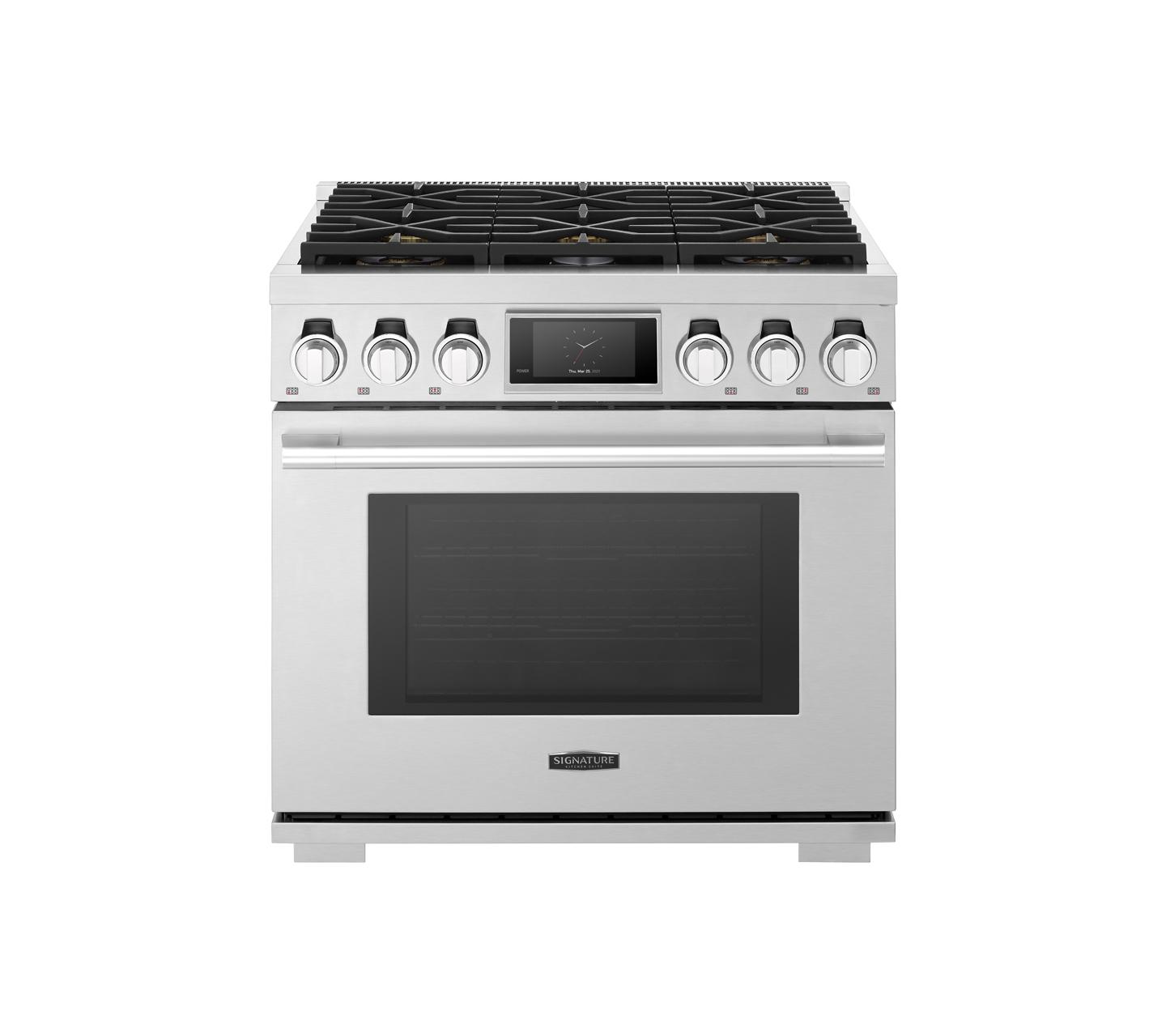 Signature Kitchen Suite36-Inch Gas Pro Range With 6 Burners
