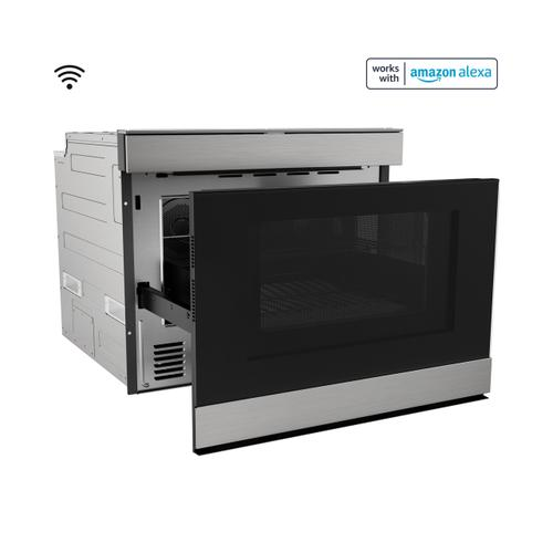"""Sharp - 24"""" Built-In Smart Convection Microwave Drawer Oven"""