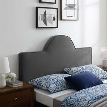 Dawn Full/Queen Performance Velvet Headboard in Charcoal