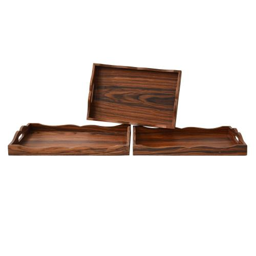 """Crestview Collections - """"WOOD TRAYS"""""""