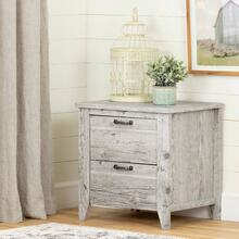 2-Drawer Nightstand - End Table with Storage - Seaside Pine