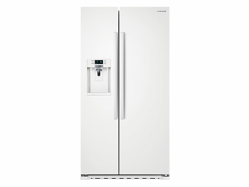 Samsung22 Cu. Ft. Counter Depth Side-By-Side Refrigerator In White