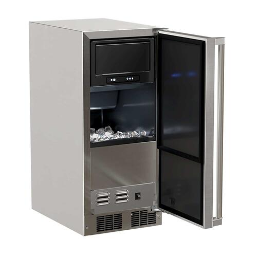 Product Image - 15-In Outdoor Built-In Clear Ice Machine with Door Swing - Right, Pump - Yes