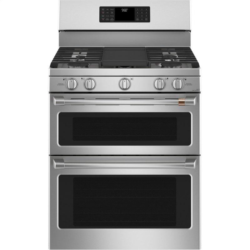 """Café™ 30"""" Smart Free-Standing Gas Double-Oven Range with Convection"""