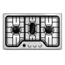RV 3-Burner Chef Collection Gas Cooktop