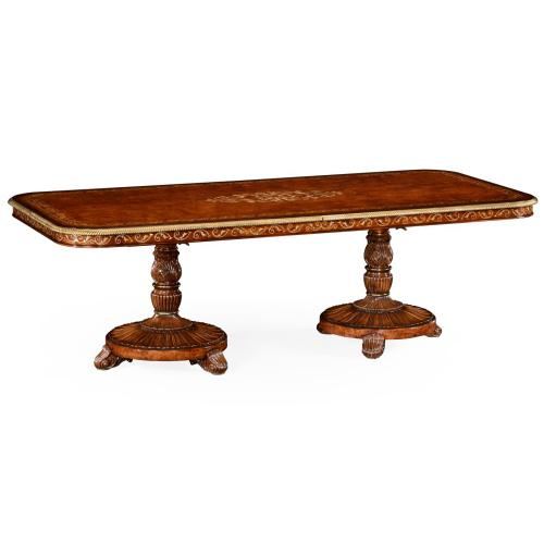 """Burl & Mother of Pearl 94 1/2"""" Rectangular Dining Table"""