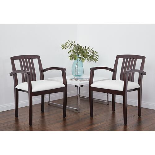 Kenwood Mahogany Wood Back Chair, Dillon Snow Seat (2-pack)