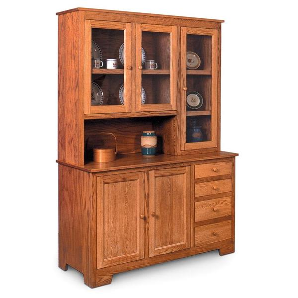 """See Details - Shaker Hoosier Hutch, 61 """", Right Top/Right 19"""" Base"""