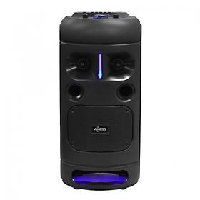 "Double 6.5"" LED Portable Bluetooth® 400W PA Speaker, TWS Link, TF, AUX, USB - PABT6028"