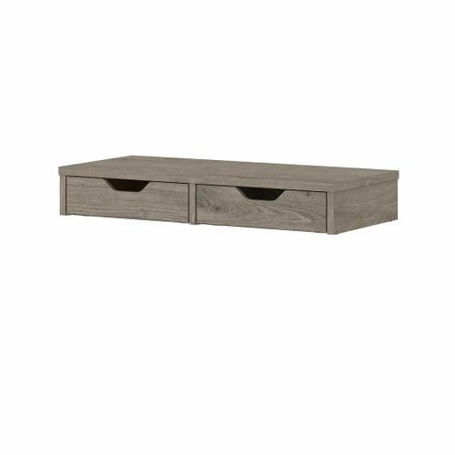 Bush Furniture - Desktop Organizer with Drawers, Shiplap Gray