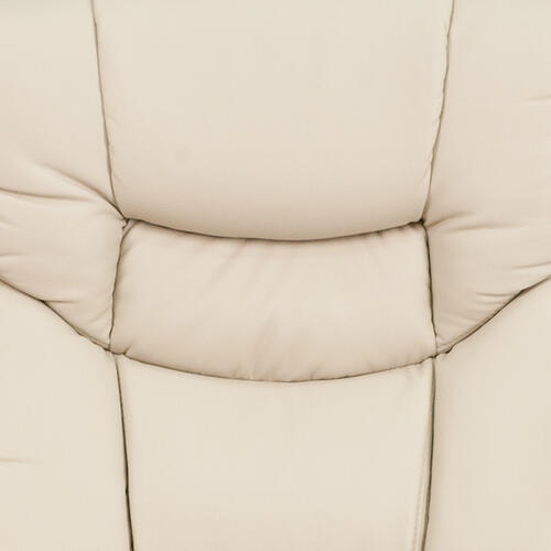 Gallery - Recliner Chair with Ottoman  Beige LeatherSoft Swivel Recliner Chair with Ottoman Footrest