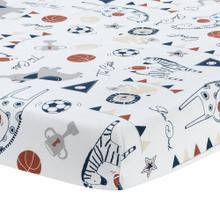 Hall of Fame Animals/Sports 100% Cotton Fitted Baby Crib Sheet