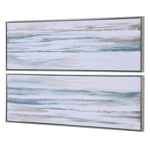 Drifting Hand Painted Canvases, S/2