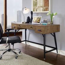 See Details - Surplus Office Desk in Walnut