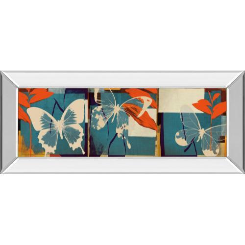 """Classy Art - """"Butterflies Viola"""" By Noah Mirror Framed Print Wall Art"""