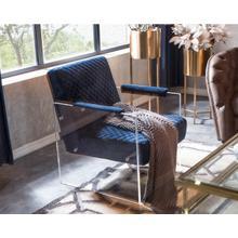 Divani Casa Edmond Modern Blue Velvet & Acrylic Lounge Chair