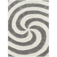 3D-804 SILVER Spiral Shaggy Rug