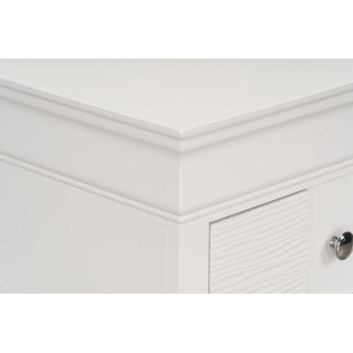 Wave White Chest of Drawers
