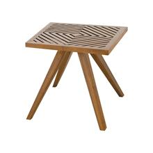 Teak Patio Side Table in Euro Teak Oil