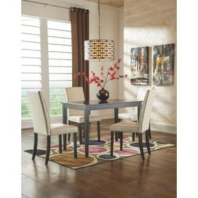 Kimonte Table & 4 Chairs Dark Brown/Ivory