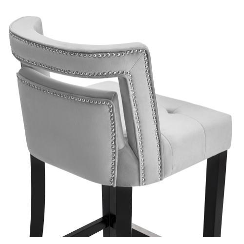 Hart Grey Velvet Counter Stool