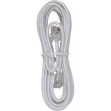 7 foot phone line cords with connectors in white color