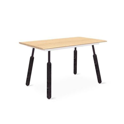 Envoy Desk 50 Inch / Blonde Ash/white / Dowel Black