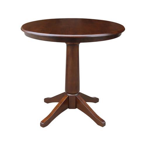 """36"""" Pedestal Table in Espresso"""