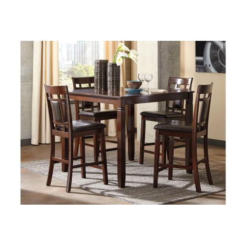 Bennox - Brown 5 Piece Counter Height Table