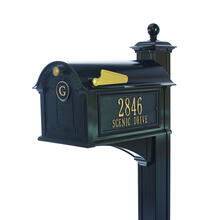 See Details - Balmoral Mailbox Side Plaques, Monogram & Post Package - Black
