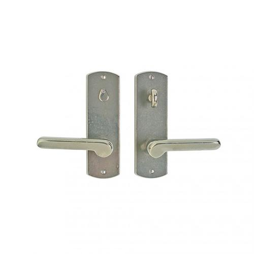 """Curved Privacy Set - 2 1/2"""" x 8"""" Silicon Bronze Brushed"""