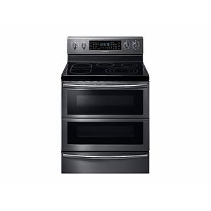 5.9 cu. ft. Freestanding Electric Range with Flex Duo™ & Dual Door in Black Stainless Steel - FINGERPRINT RESISTANT BLACK STAINLESS STEEL