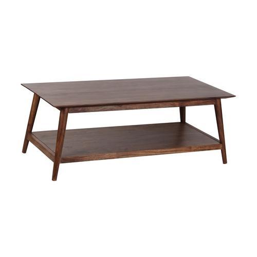 Porter International Designs - Portola Walnut Coffee Table with Shelf, 2005-001WW