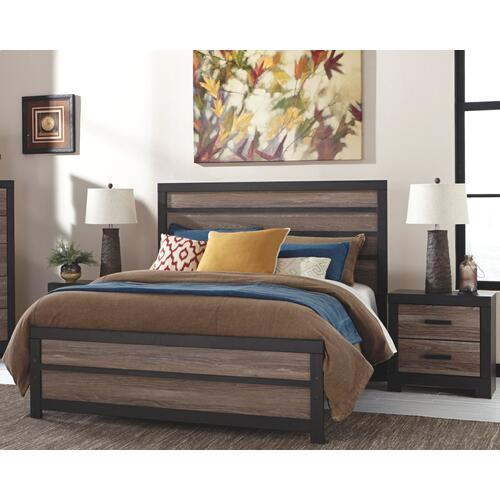 Queen Panel Bed With Nightstand