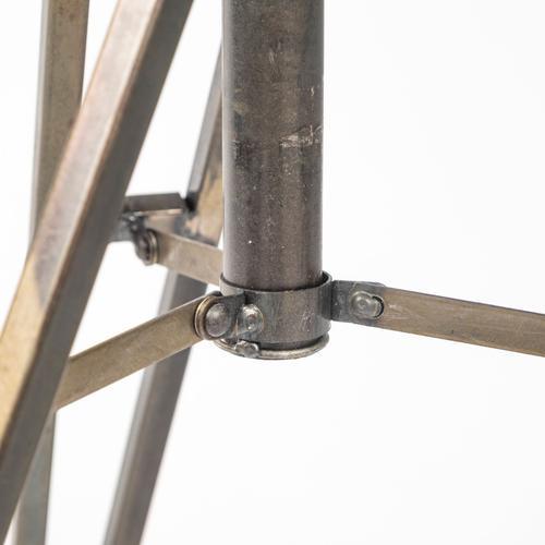 "Mercana - Debdou (61""H) Gold Metal Adjustable Cinema-Style Floor Lamp"