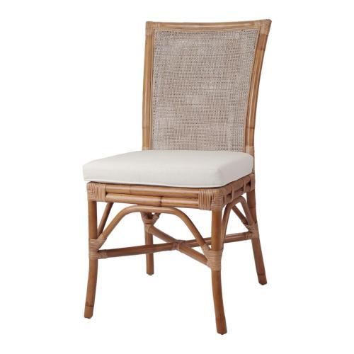 Tatum Rattan Side Chair, Canary Brown