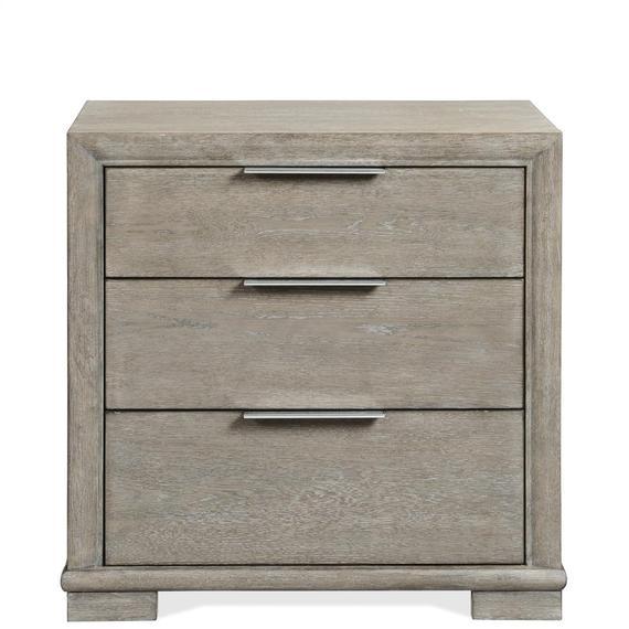 Riverside - Remington - Three Drawer Nightstand - Urban Gray Finish