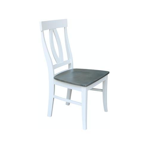 Verona Chair in Heather Gray & White