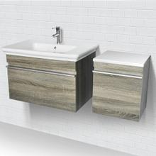 Lakeside Wall Mount Vanity With Side Cabinet - Grey