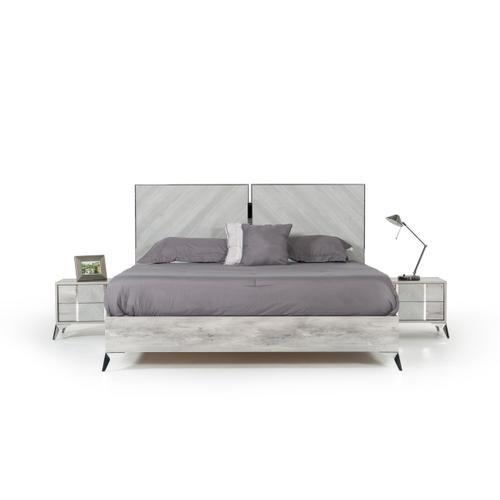 Nova Domus Alexa Italian Modern Grey Bedroom Set
