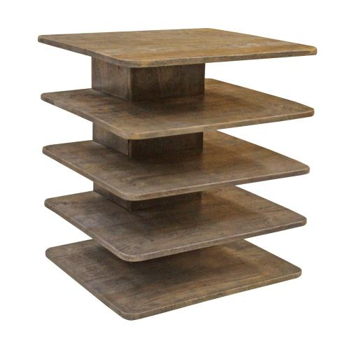 Product Image - Bengal Manor Mango Wood Tiered Accent Table