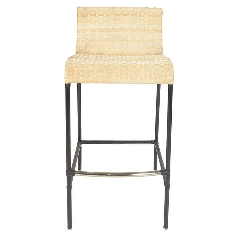Quick Ship! Cologne Leather Barstool