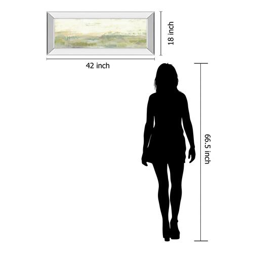 "Classy Art - ""Greenery Horizon Line I"" By Jennifer Goldberger Mirror Framed Print Wall Art"