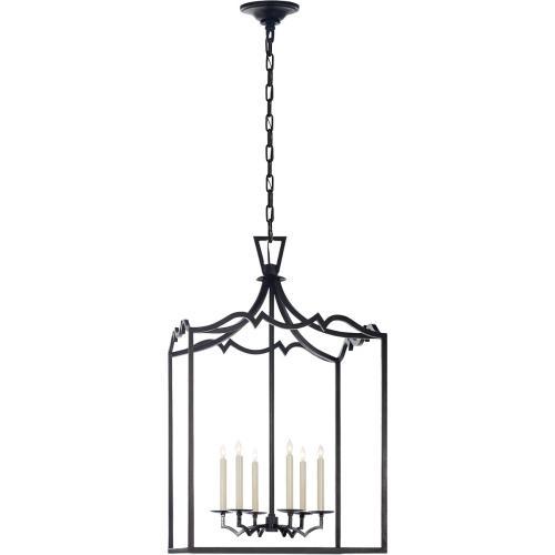 Visual Comfort CHC2182AI E. F. Chapman Darlana 6 Light 22 inch Aged Iron Foyer Pendant Ceiling Light