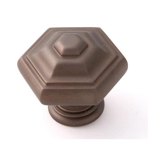 Geometric Knob A1530 - Chocolate Bronze