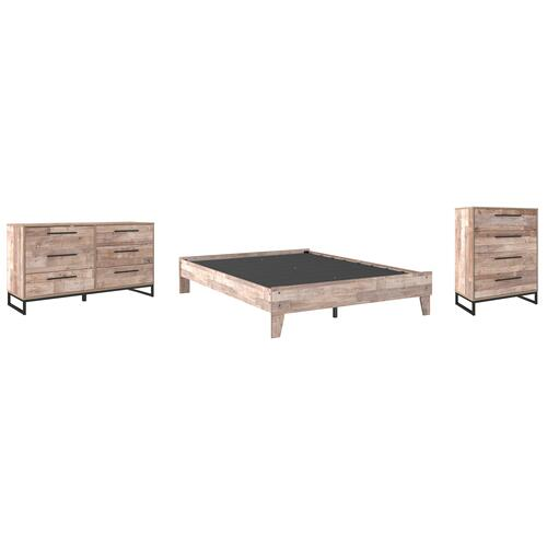 Ashley - Queen Platform Bed With Dresser and Chest
