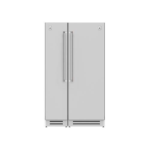 "Hestan - 48"" Column Freezer (L) and Refrigerator ® Ensemble Refrigeration Suite - Tin-roof"