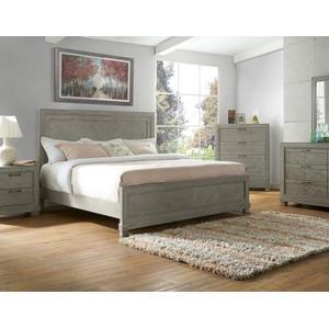Montana King Bed, Grey