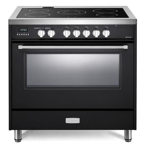 "Matte Black 36"" Designer Electric Range"